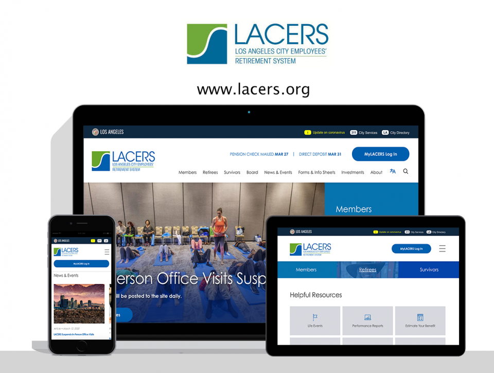 Los Angeles City Employees' Retirement System Website by Digital Deployment