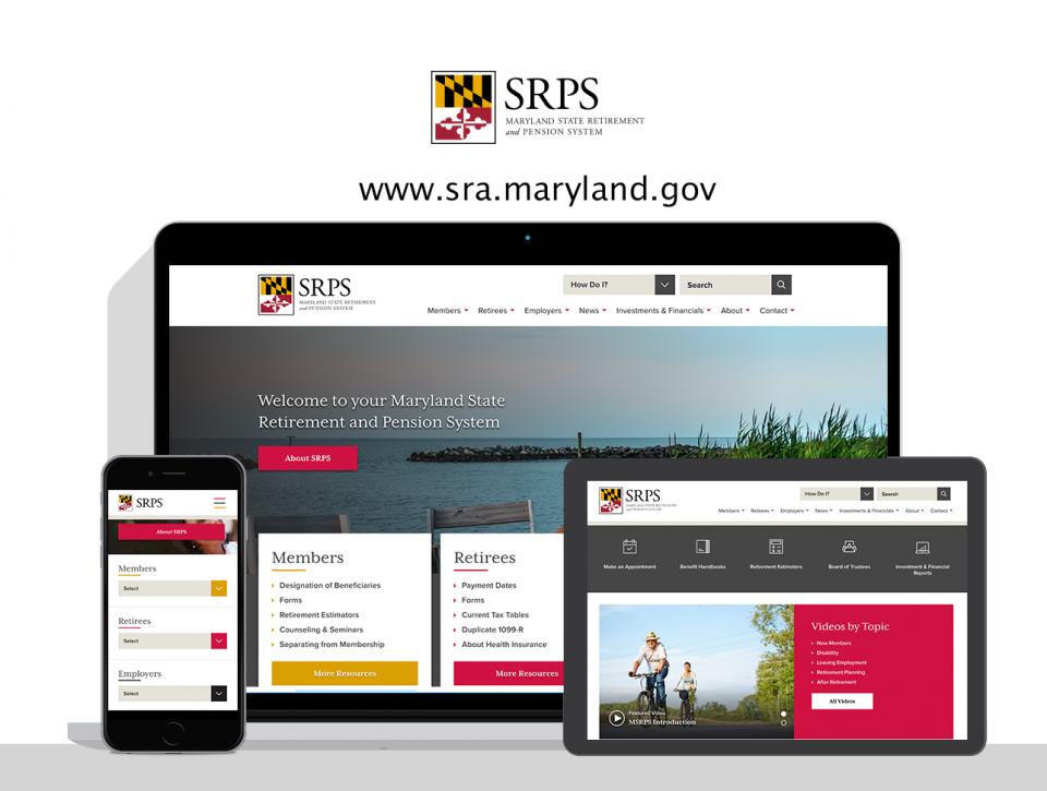 Maryland State Retirement and Pension System new website by pension website design agency, Digital Deployment
