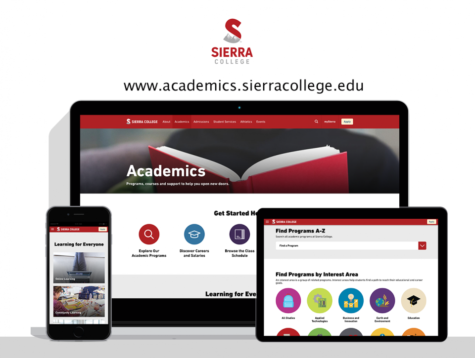 Sierra College new website by Digital Deployment, a Sacramento web design company