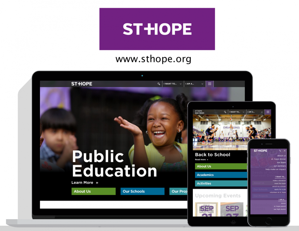 St. Hope new website by education website design agency, Digital Deployment