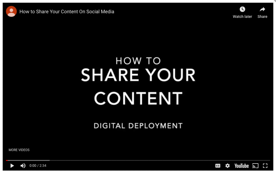 Step 4 – Share via social media and email