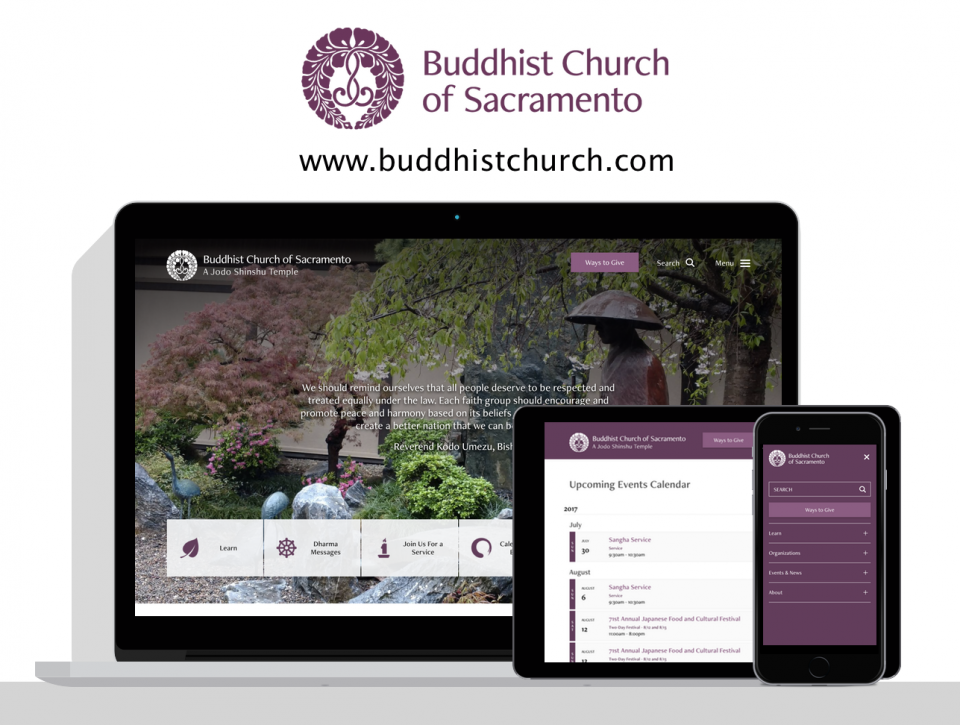 Buddhist Church of Sacramento new website