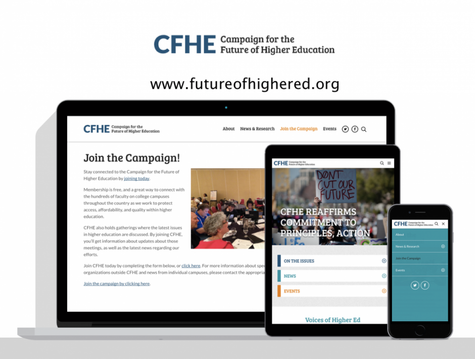 Campaign for the Future of Higher Education new website