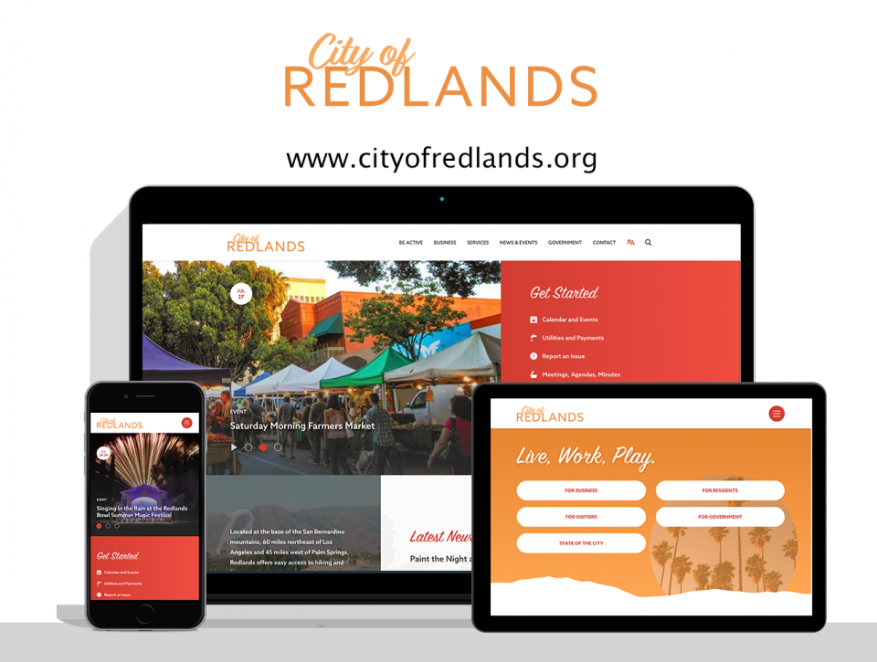 City of Redlands new website by city website design agency, Digital Deployment