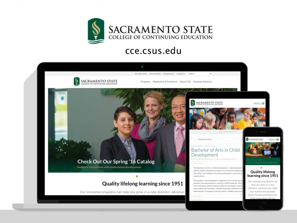 Sacramento State College of Continuing Education - a new website by Digital Deployment
