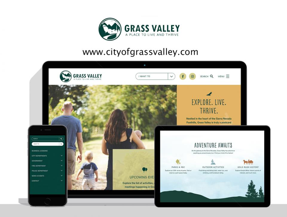City of Grass Valley's new website