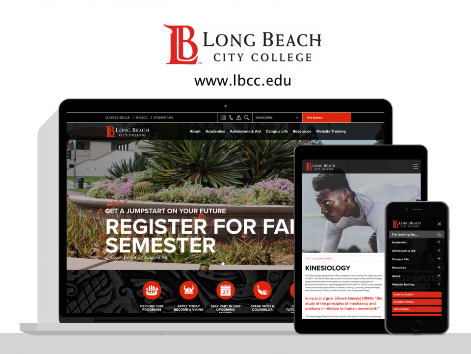Long Beach City new website by Digital Deployment, a higher education website design company