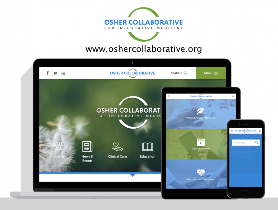 Osher Collaborative for Integrative Medicine new website by health care website design agency, Digital Deployment