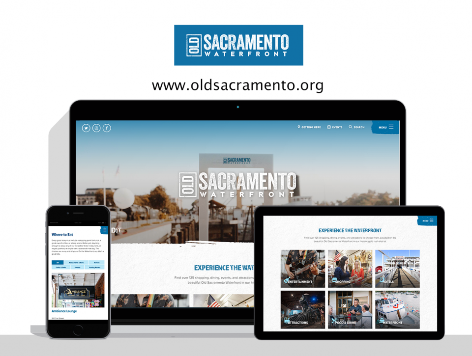 Old Sacramento Waterfront new website by Digital Deployment a website design firm in Sacramento