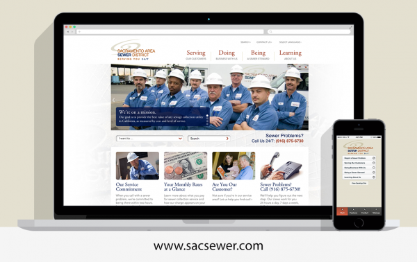Sacramento Area Sewer District website by digital deployment