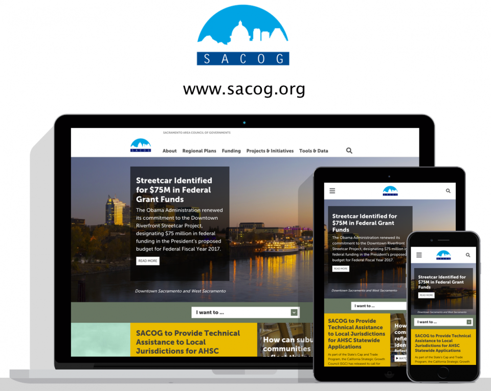 Sacramento Area Council of Governments new website by Sacramento website design agency, Digital Deployment
