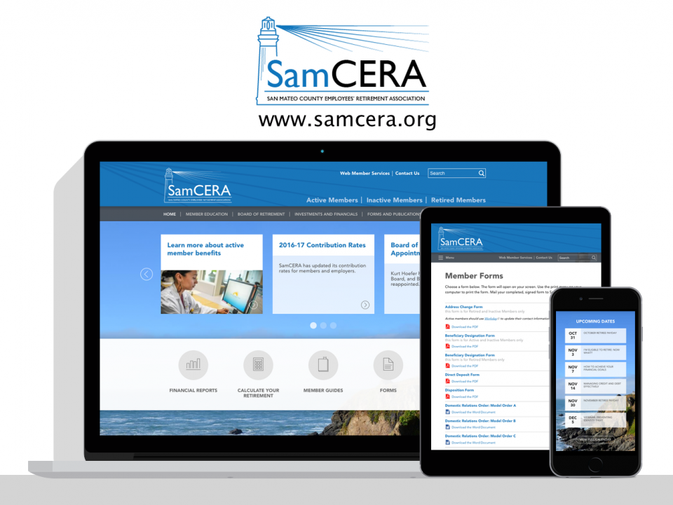 San Mateo County Employees' Retirement Association new website