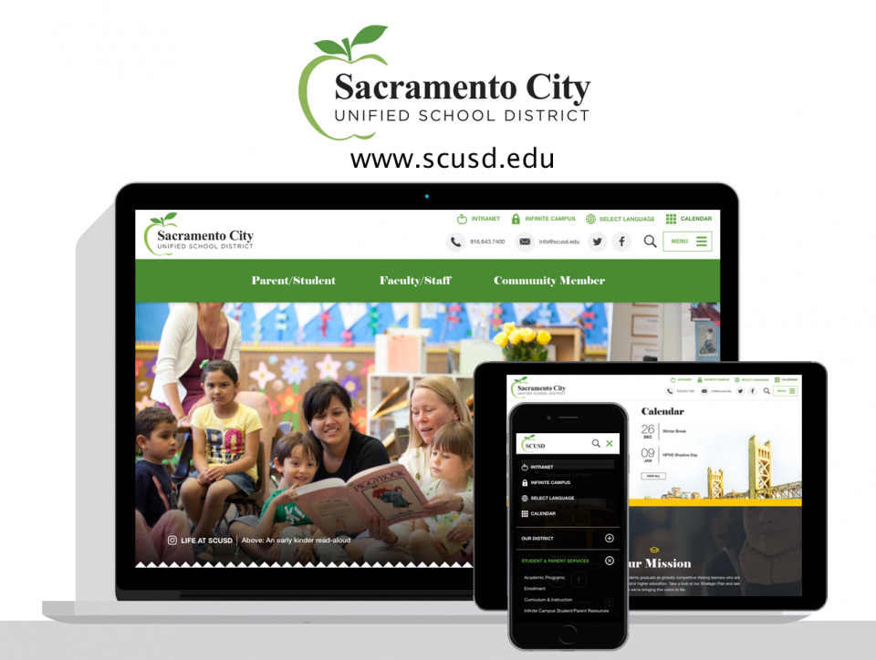 Sacramento City Unified School District website by Digital Deployment