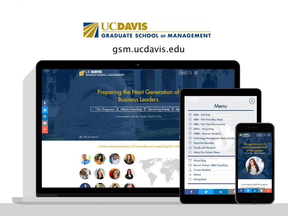 UC Davis Graduate School of Management new website by Digital Deployment