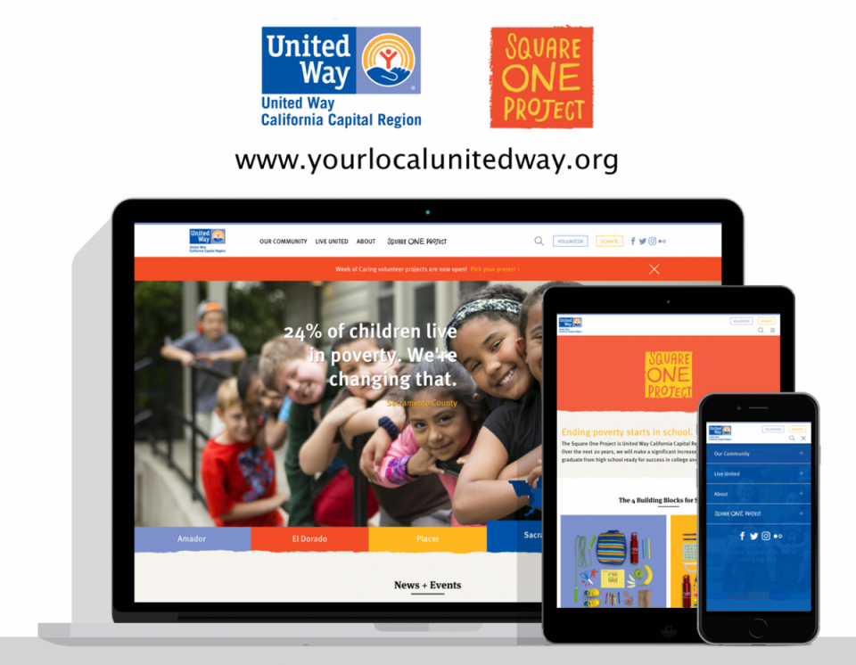 United Way Capital Region website - Sacramento, CA