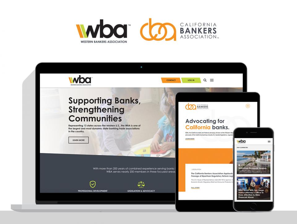 Western Bankers Association new website by Sacramento website design agency, Digital Deployment