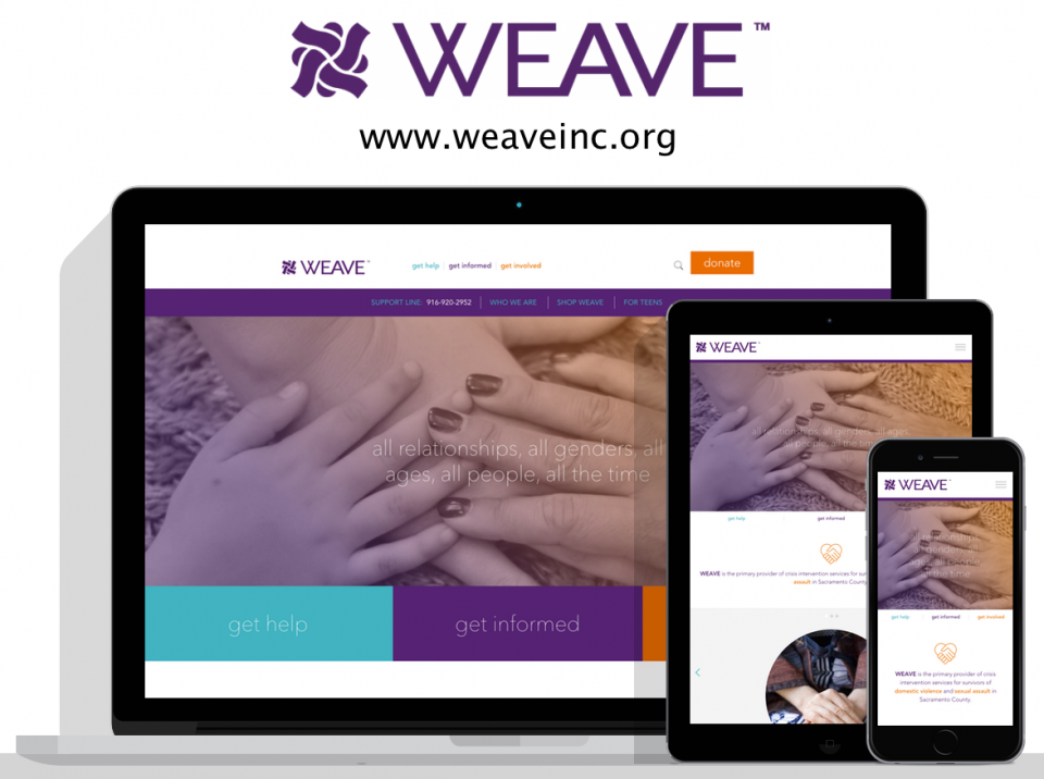 WEAVE new website by Digital Deployment a website design company in Sacramento