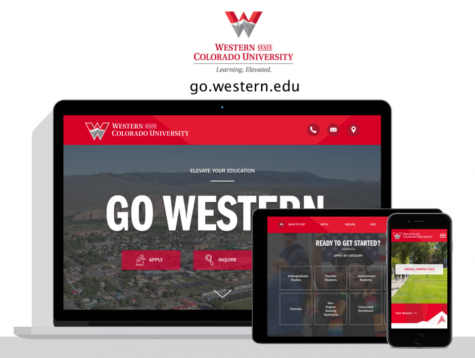 Western State Colorado University new website